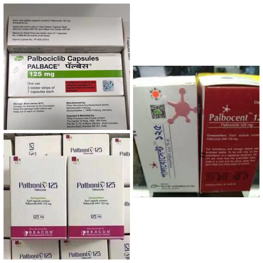 哌柏西利、帕博西尼(palbociclib)与卡培他滨(capecitabine)的治疗效果比较-